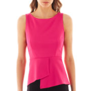 Bisou Bisou® Sleeveless Peplum Top