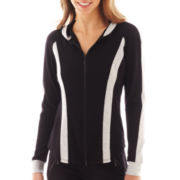 Bisou Bisou® Long-Sleeve Zip-Front Colorblock Hoodie