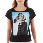 MNG by Mango® Short-Sleeve Zebra Screen Tee