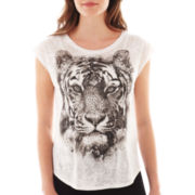 MNG by Mango® Short-Sleeve Bandana Tiger Screen Tee