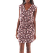 MNG by Mango® Short-Sleeve Floral Print Dress