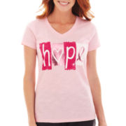 Made For Life™ Short-Sleeve Breast Cancer Awareness Tee - Petite