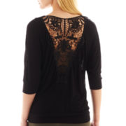 i jeans by Buffalo Lace-Back Elbow-Sleeve Tee