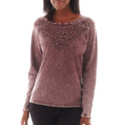 i jeans by Buffalo Long-Sleeve Crochet Sweatshirt