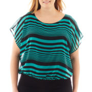 Alyx® Short-Sleeve Banded Print Top