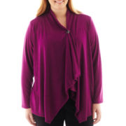 Alyx® 3/4-Sleeve Asymmetrical Wrap - Plus