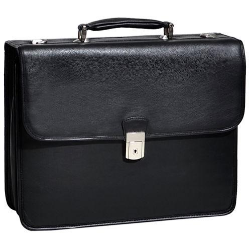 "McKleinUSA Ashburn 15.4"" Leather Double Compartment Laptop Briefcase"