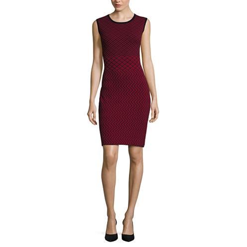 Worthington® Sleeveless Pattern Sweater Dress
