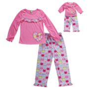 Dollie And Me Girls Kids Pajama Set-Big Kid 7-20