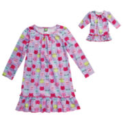 Dollie & Me Long-Sleeve Nightshirt - Girls 4-14