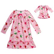 Dollie & Me Long-Sleeve Nightshirt-Girls 4-14