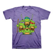 Short-Sleeve Cute Ninja Turtles Graphic Tee