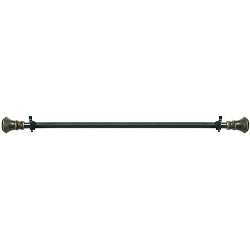 "Buono II ¾"" Adjustable Curtain Rod with Laya Finial"