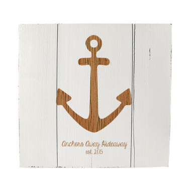 jcpenney.com | Cathy's Concepts Personalized Rustic Anchor Wooden Wall Art