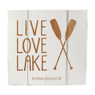 jcpenney.com | Cathy's Concepts Personalized Rustic Lake House Wooden Wall Art