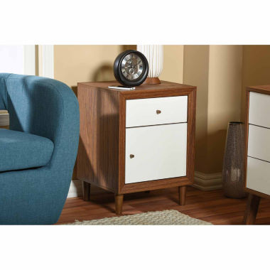 jcpenney.com | Baxton Studio Harlow Mid-Century Modern Wood Nightstand