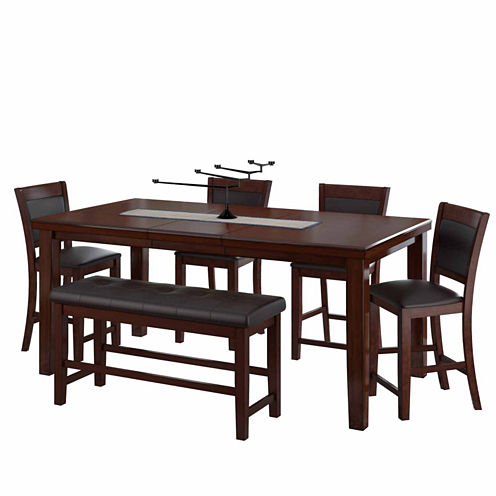 6-pc. Counter Height Extendable Dining Set