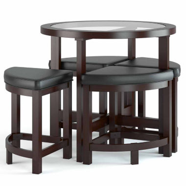 jcpenney.com | Belgrove Counter Height Dark Espresso 5pc Stained Dining Set