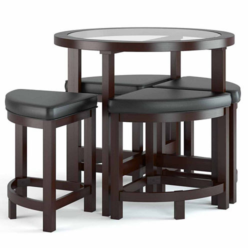 Belgrove Counter Height Dark Espresso 5pc Stained Dining Set