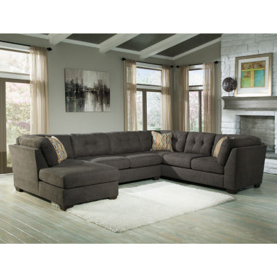Signature Design By Ashley® Delta City 3 Pc. Sleeper Sofa Sectional