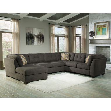 jcpenney.com | Signature Design by Ashley® Delta City 3-pc. Sleeper Sofa Sectional