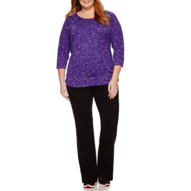 jcpenney.com | Made for Life™ 3/4-Sleeve Patch Yarn Raglan Tee or French Terry Pants