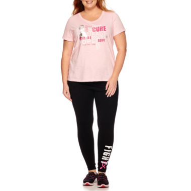 jcpenney.com | Made for Life™ Breast Cancer V-Neck Tee or Breast Cancer Leggings - Plus