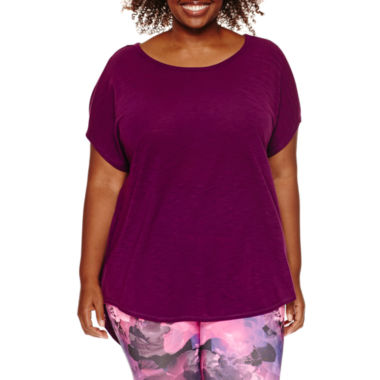jcpenney.com | Xersion™ Studio Dolman-Sleeve Harmony Tee - Plus