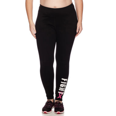 jcpenney.com | Made for Life™ Breast Cancer Leggings - Plus