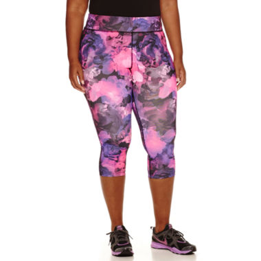 jcpenney.com | Xersion™ Printed Capris - Plus