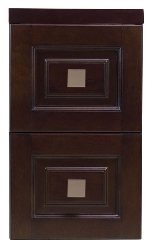 American Imaginations Transitional Birch Wood-Veneer Bathroom Cabinet
