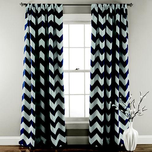 Chevron 2-Pack Room Darkening Curtain Panel