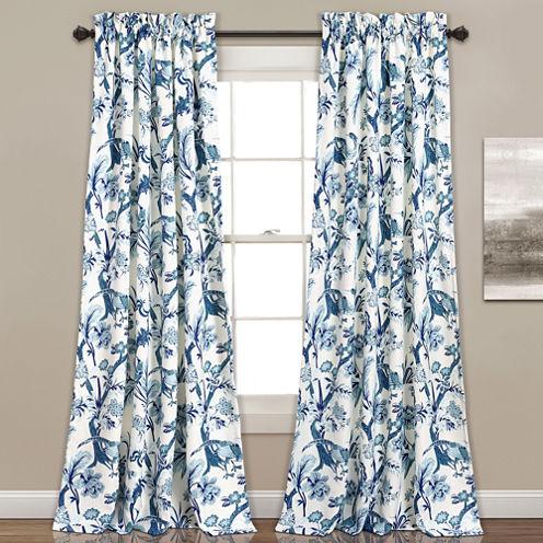 Lush Decor Dolores 2-Pack Room Darkening Curtain Panel