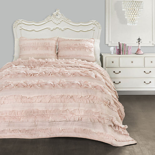 Lush Decor Belle Quilt Pink Blush