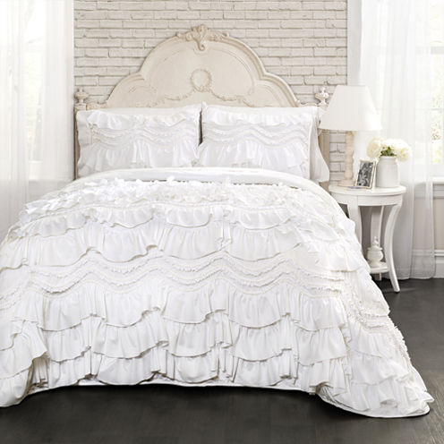 Lush Decor Kemmy Quilt White Set