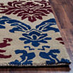 Rizzy Home Bradberry Downs Collection Hand-TuftedAaliyah Damask Area Rug