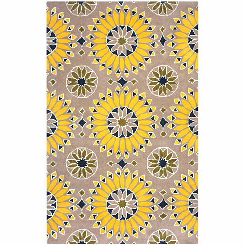 Rizzy Home Bradberry Downs Collection Hand-TuftedLucy Medallion Area Rug