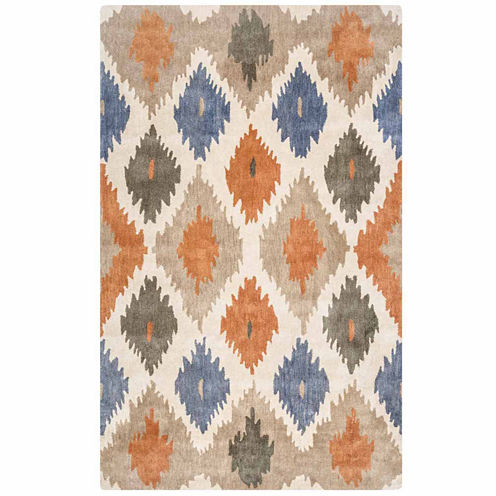 Rizzy Home Bradberry Downs Collection Hand-Tufted Norma Geometric Area Rug