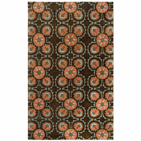 Rizzy Home Destiny Collection Hand-Tufted Stephanie Floral Area Rug
