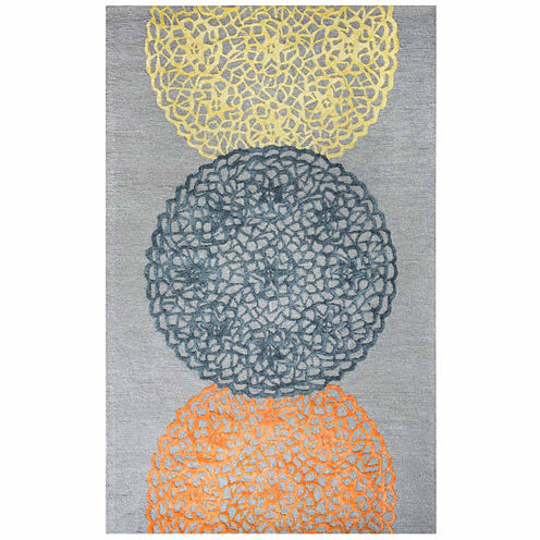 Rizzy Home Eden Harbor Collection Hand-Tufted Eleanor Medallion Area Rug