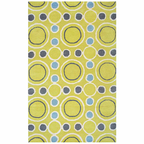 Rizzy Home Gillespie Avenue Collection Hand-TuftedArianna Circles Area Rug