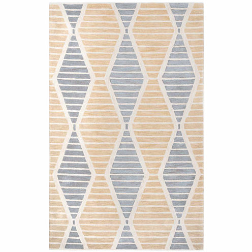 Rizzy Home Palmer Collection Hand-Tufted Naomi Geometric Area Rug
