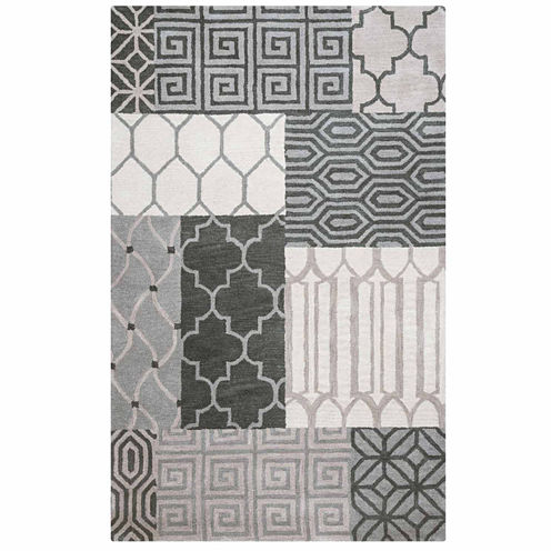 Rizzy Home Palmer Collection Hand-Tufted Piper Patchwork Area Rug
