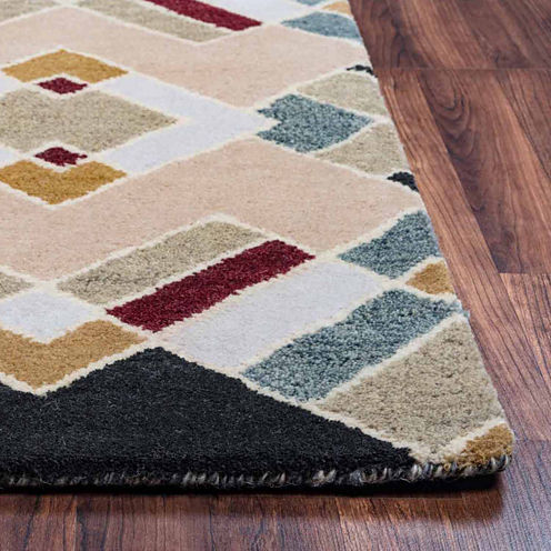 Rizzy Home Pandora Collection Hand-Tufted Liam Geometric Area Rug
