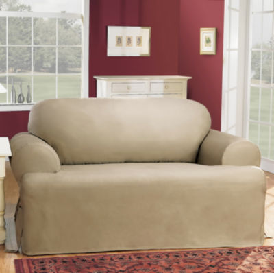 sure fit cotton duck tcushion loveseat slipcovers