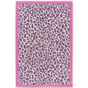 Tween Leopard Field Washable Rectangular Rug