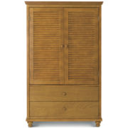 Louvered Storage Armoire