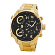JBW The G4 Mens Diamond-Accent Gold-Tone Stainless Steel Watch J6248E