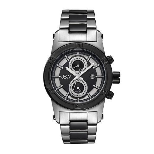 JBW Strider Mens Diamond-Accent Stainless Steel Watch J6263G