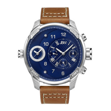 jcpenney.com | JBW G3 Mens Diamond-Accent Brown Leather Strap Watch J6325E